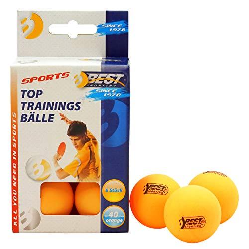 Best Sporting Tischtennisbälle, Qualität: 1 Stern, 6 Stück, Farbe: Orange