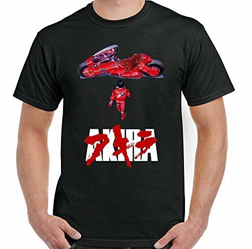 guanxin Akira T-Shirt Mens Cult Animated Japanese Movie Unisex Top Film Sci FI Japan Men Black XXL