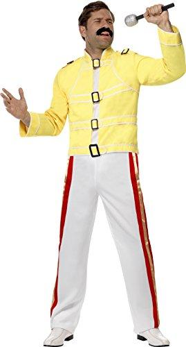 De Smiffy - Disfraz de Vestuario como Freddy Mercury Incl. pantalón y Chaqueta, tamaño: M