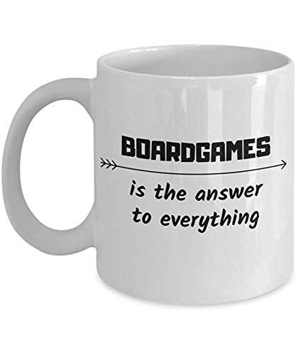 Bordspel is het antwoord op alle koffiemok Sportive Coworker Fiend geschenk hobby Travel Cup beschikbaar