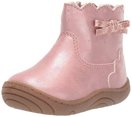 Stride Rite Girls' SR Yuri Ankle Boot, Pink, 6 M US Toddler