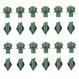 Ajuste de riego automático Picos de Waterer Planta Dispositivos de riego Auto Drip Dispositivos de riego para planta en maceta Green Green 12pcs, boquillas Boquillas Dippers