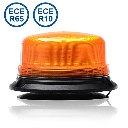 LED-MARTIN® Rundumleuchte 12V/24V - Orange - Gelb - Magnetfuß - 3,5m Kabel - ECE-R65 - kompakte Bauform