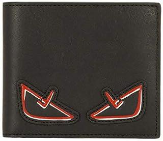 [フェンディ] 財布 二つ折り財布 メンズ FENDI バグス ブラック/レッド マットレザー 小銭入れなし 7M0169 A72K F0P0N BUGS バグズ モンスター プレゼント ギフト 小物 [並行輸入品]