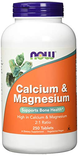Now Foods Calcium and Magnesium I Ratio 2 to 1 I Highly Potentiated I 250...