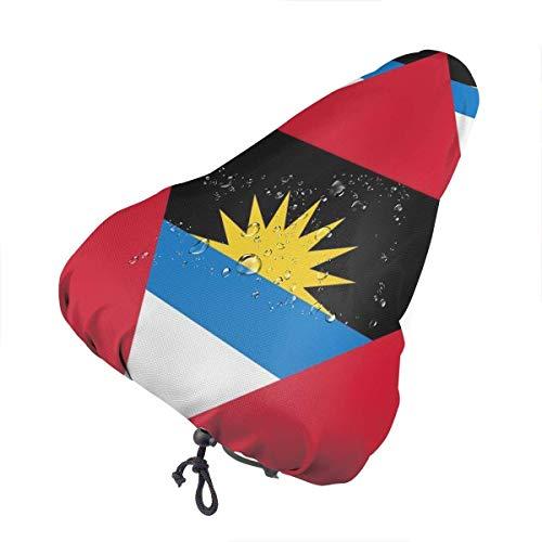 GOSMAO Funda para sillín de Bicicleta-Bandera de Antigua y Barbudad Fundaa de Bicicleta Protección Funda de cojín de Bicicleta para Bicicleta de montaña Estacionario Asiento de Bicicleta Envolvente