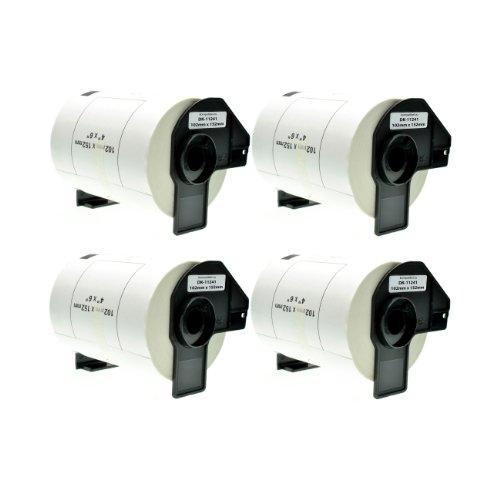 Logic-Seek 4X Versand-Etiketten kompatibel für Brother DK11241 - je 200 Stück - 102mm x 152mm P-Touch QL-1050 1050N 1060N