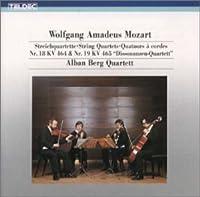 モーツァルト : 弦楽四重奏曲第18番、第19番「不協和音」