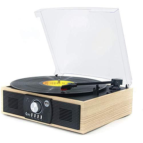 Ashey Plattenspieler Mit Bluetooth, Nostalgy Edition, Retroanlage, Lautsprecher, Radio-Tuner, UKW, MW Empfänger, RDS-Funktion, USB, CD-Player, Kassettendeck, (Holz)