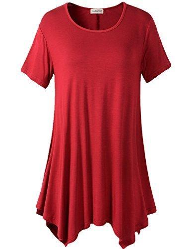 LARACE - Camiseta tipo túnica con vuelo para mujer, de ajuste suelto y cómodo, favorecedora a la silueta, S