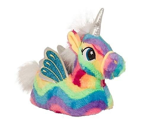 Girls Boys Kids Slippers Size 10 11 12 13 1 2 Unicorn Fun Novelty Idea 3D Animal (2/3, Rainbow Unicorn)