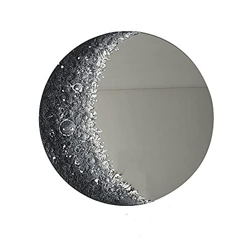 XIAOQIAO Specchio Decorativo Moderno Specchio a Forma di Luna per Decorazioni Specchio per Il Trucco Ornamenti per Gli Amanti della Decorazione della Stanza Boho Chic, Oggetti di Scena Fotografici