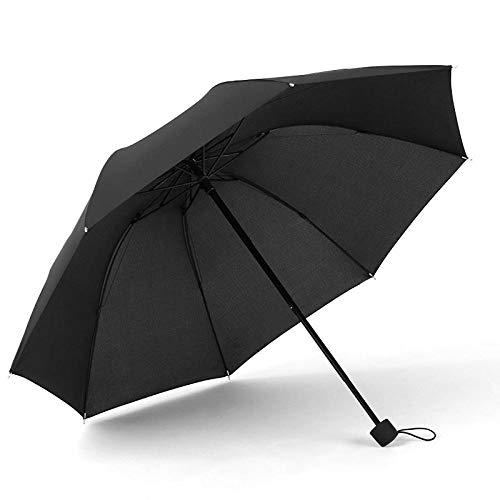 Roshow 8 Knochenhand geöffnet DREI-fache Regenschirm-Männer und Frauen-Geschäfts-Regenschirm-benutzerdefinierte Druck-Logo benutzerdefinierte Sun-Regenschirm-Werbe-Regenschirm-schwarz