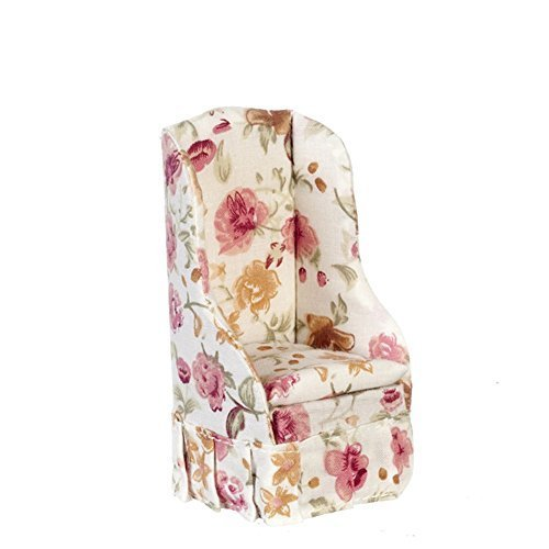 Melody Jane Dollhouse Rose Floral Armchair Arm Chair Miniature Living Room Furniture