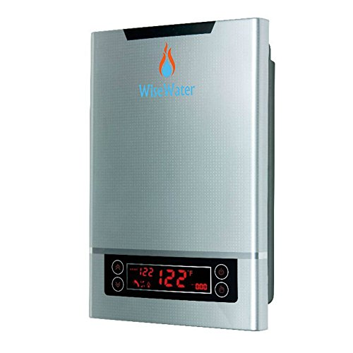 """WiseWater Tankless Water Heater Electric, Instant Electric Water Heater 27kW 3/4""""NPT for Domestic Hot Water Heating in..."""