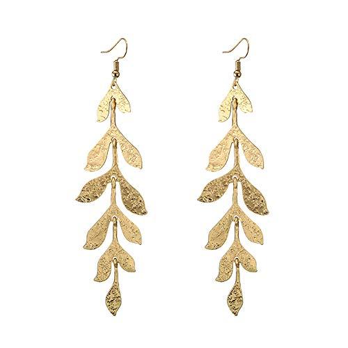 Emorias 1 Pair Damen-Ohrringe Lange Blätter Mode Modeschmuck Legierung Ohrringe Schmuck Accessoires Geschenke für Mädchen