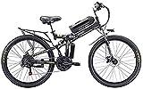 Bicicleta Eléctrica 26 '' Bicicleta de montaña eléctrica plegable con 48V 8AH Batería de iones de litio 350W Bicicleta eléctrica de motor E-Bike 21 Equipo de velocidad y tres modos de trabajo Batería
