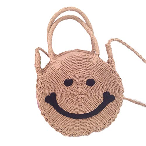 Material: Made of natural rattan fiber. Design: beautiful appearance, unique fashion, natural and simple. Capacity: can store travel and daily necessities, wallets, glasses, mobile phones, cosmetics, cards and other necessities. Style: Bohemian style...