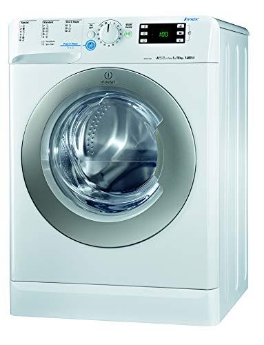 Indesit XWE 101484X WSSS EU Waschmaschine FL / 205 kWh / 1400 UpM / 10 kg / 12810 Liter/Jahr / Inverter-Motor/ leise nur 56 db/ Schnellprogramm 9-30-60 Min
