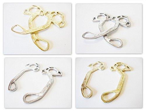 PS Pferdeartikel Hackamore Exquisite Silber oder Gold-messingfarbig verziert Farbe Silber