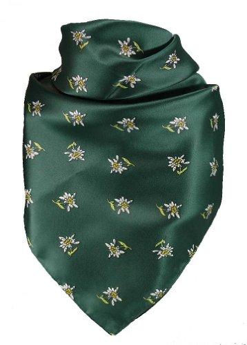 Harrys-Collection Feines Tuch mit Edelweiss in vielen Farben 60 X 60 cm, Farben:grün