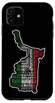 iPhone 11 Tamaulipas Mexico Mapa Bandera Mexicana State Case