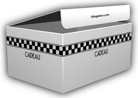 VillageBox デザインダンボール M フレンチチェック