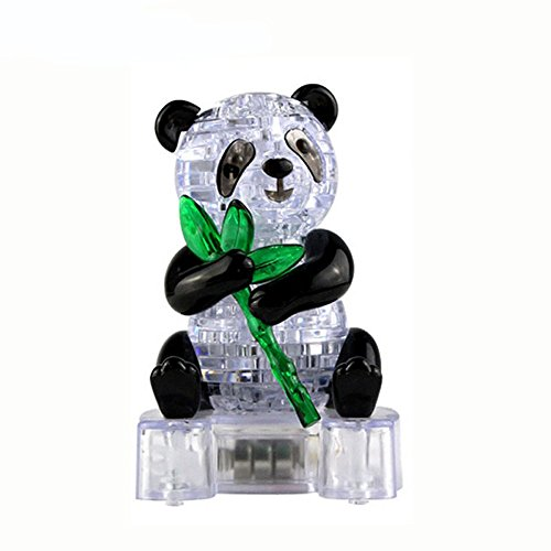 Hotsellhome Creative 3D Crystal Jigsaw Puzzle Cute Panda Model DIY Gadget Blocks Building Toy Gift BU for Kid and Adult