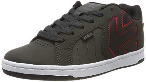 Etnies Herren FADER 2 Skateboardschuhe,  Grau (025-Dark Grey/Black/Red 025), 38 EU