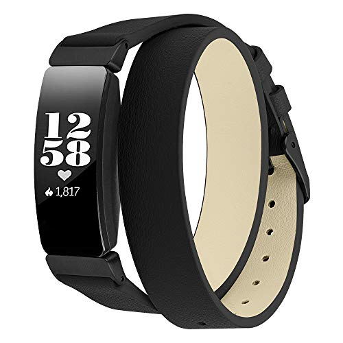 Elobeth Genuine Leather Band for Fitbit Inspire & Inspire HR