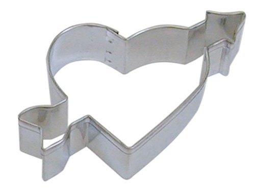 R&M 4' Heart with Arrow Cookie Cutter Tin Plated Steel
