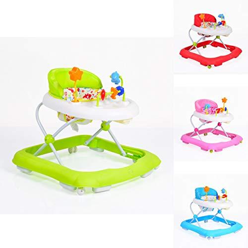 Cangaroo Walker EKO Lauflernhilfe für Babys mit fröhlichem Spielecenter für Baby ab 6 Monaten, grün