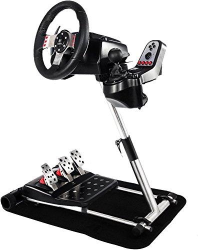 Chrisun verstelbare stuurbevestiging voor Logitech G27 G25 G29 G920 stuurwielhouder van roestvrij staal voor stuursimulator, houder, frame, racestuur