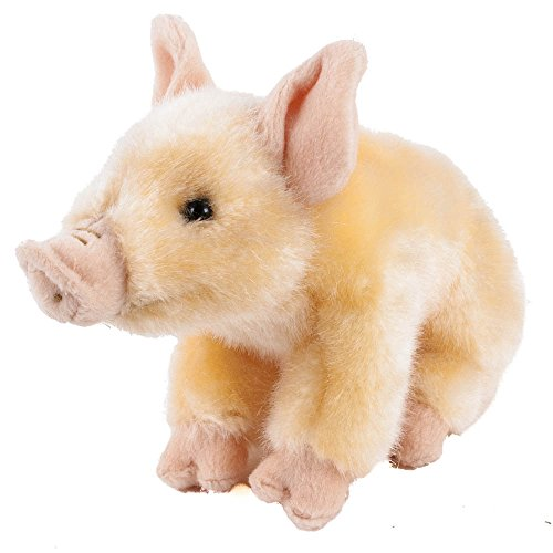 Teddys Rothenburg Kuscheltier Schwein 20 cm (ohne Ringelschwanz) sitzend rosa Plüschschwein Stoffschwein