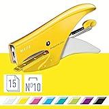 Leitz Cucitrice a Pinza, Capacità fino a 15 Fogli, Design Ergonomico in Metallo, Include ...