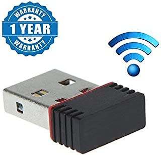 EYUVAA LABEL Wi-Fi Receiver 300Mbps, 2.4 Ghz, 802.11B/G/N USB 2.0 Network Adapter for Computer and Laptops
