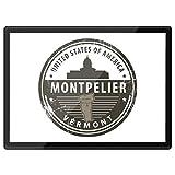 Destination Vinyl Ltd Quickmat - Mantel individual de plástico (A3), diseño de Montpelier Vermont de Estados Unidos de América para el lugar de trabajo, alfombrilla para ratón, lavable, resistente al agua #7096