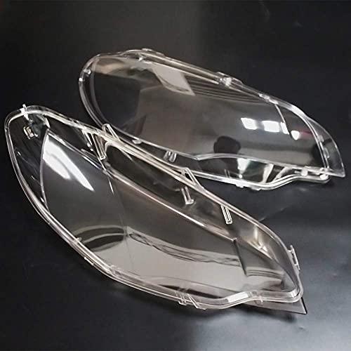 MISSLYY Guscio del Faro dell'automobile, Auto Faro Lente Copertura di Vetro Trasparenti Auto Shell Paralume Stile Accessori per BMW X6 E71 2008-2014