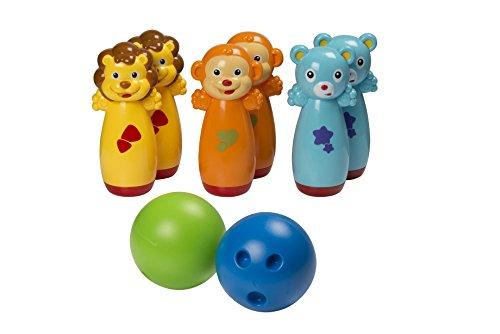 Let's Play - 41281 - Jeu De Bowling - Quilles Animaux - 22 X 10 X 8 Cm - 9 Pièces