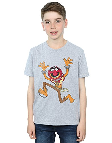 Disney Boys The Muppets Classic Animal T-Shirt 7-8 Years Sport Grey