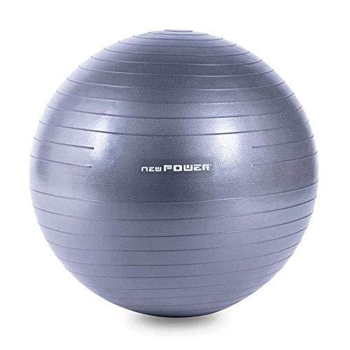 NEWPOWER - Pelota de Ejercicio Fitball 75cm, Anti-pinchazos y Antideslizante. Fabricada en PVC. Ideal como Pelota de Yoga Resistente para Equilibrio y Entrenamiento. Balón de Gimnasio Fácil de Hinchar