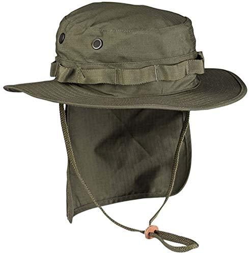 Mil-Tec Boonie Sombrero británico con protección Cuello Ripstop (Oliva/XXL)