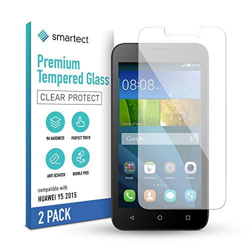 smartect Schutzglas kompatibel mit Huawei Y5 (2015) [2 Stück] - Tempered Glass mit 9H Festigkeit - Blasenfreie Schutzfolie - Anti-Kratzer Bildschirmschutzfolie