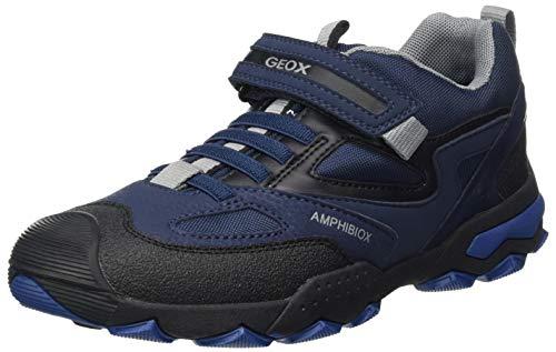 Geox Jungen J BULLER Boy B ABX A Rain Shoe, (Navy/Grey), 36 EU