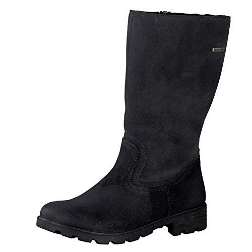 RICOSTA Fille Bottes & Boots Diana, Bottes Classiques, Lassie Bottes,Bottes à Tige Longue,doublées,Fermeture éclair,imperméable,Asphalt,32 EU / 13 UK