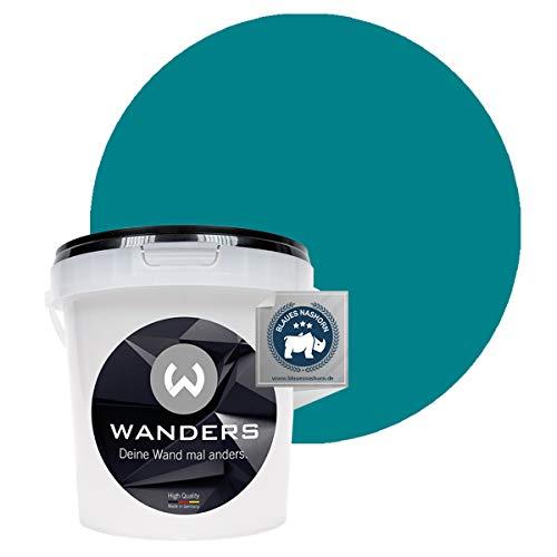Wanders24 Pintura de pared pintura de pizarra mate (1 litro, Turquesa) lavable, creativo, escribible, pintura de pizarrón