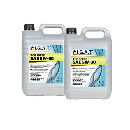 MotorölTop Speed 5W-30 [2x 5 L] Igat SET20118-0050-IA10L Öl Schmierung