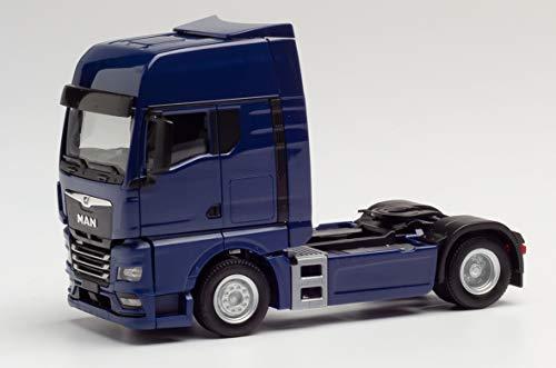 herpa 312134 Man Man Man TGX GX Zugmaschine, blau in Miniatur zum Basteln Sammeln und als Geschenk, Mehrfarbig