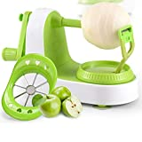 Apple Peeler, Multi-Function Fruit Peeler, Vegetable, Fruit Peeler, pear Potato Slice Movement, Peeling Machine Fast Manual Setting with 8 Blade Slicer Apple pear Peeler Five Seconds Peeling Machine