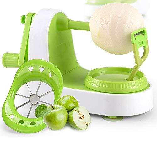 Apple peeler, multi-function fruit peeler, vegetable, fruit peeler, pear potato slice movement, peeling machine fast manual setting with 8 blade slicer apple pear peeler five seconds peeling machine
